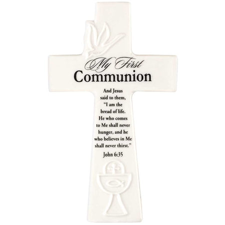My First Communion Porcelain Wall Cross/ 6""