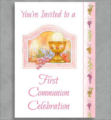 First Communion Invitation Package (Girl)