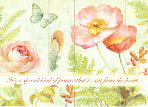 Natural Flora Birthday - Prayer Card