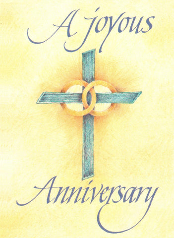 A Joyous Anniversary (Cross with Rings)