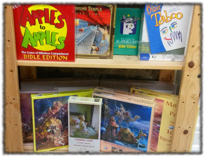 Catholic theme games at St Patrick's Giftshop & Bookstore