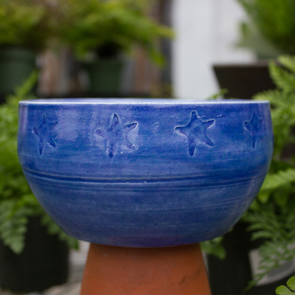Blue Star Imprint Bowl - Little White House Artisans