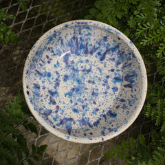 Blue and White Speckled Bowl - Little White House Artisans