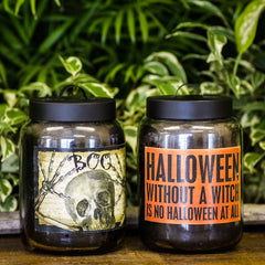 Halloween Jar Candles