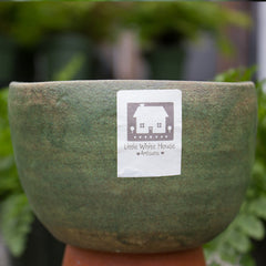 Square Green Pot - Little White House Artisans