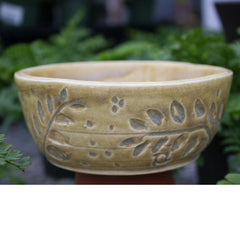 Honey Bee/Leaf Imprint Pottery - Little White House Artisans