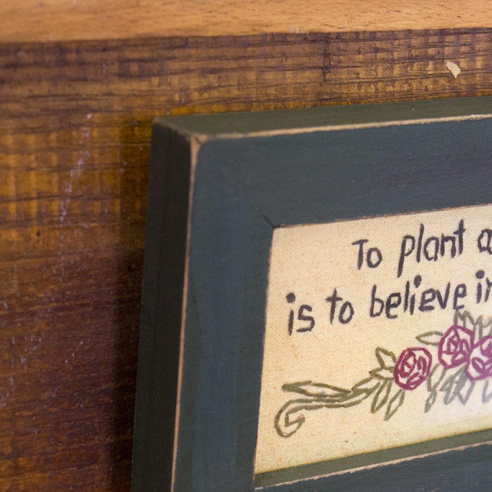 Plant a Garden Stitchery Sign