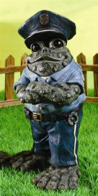 Policeman Standing Toad
