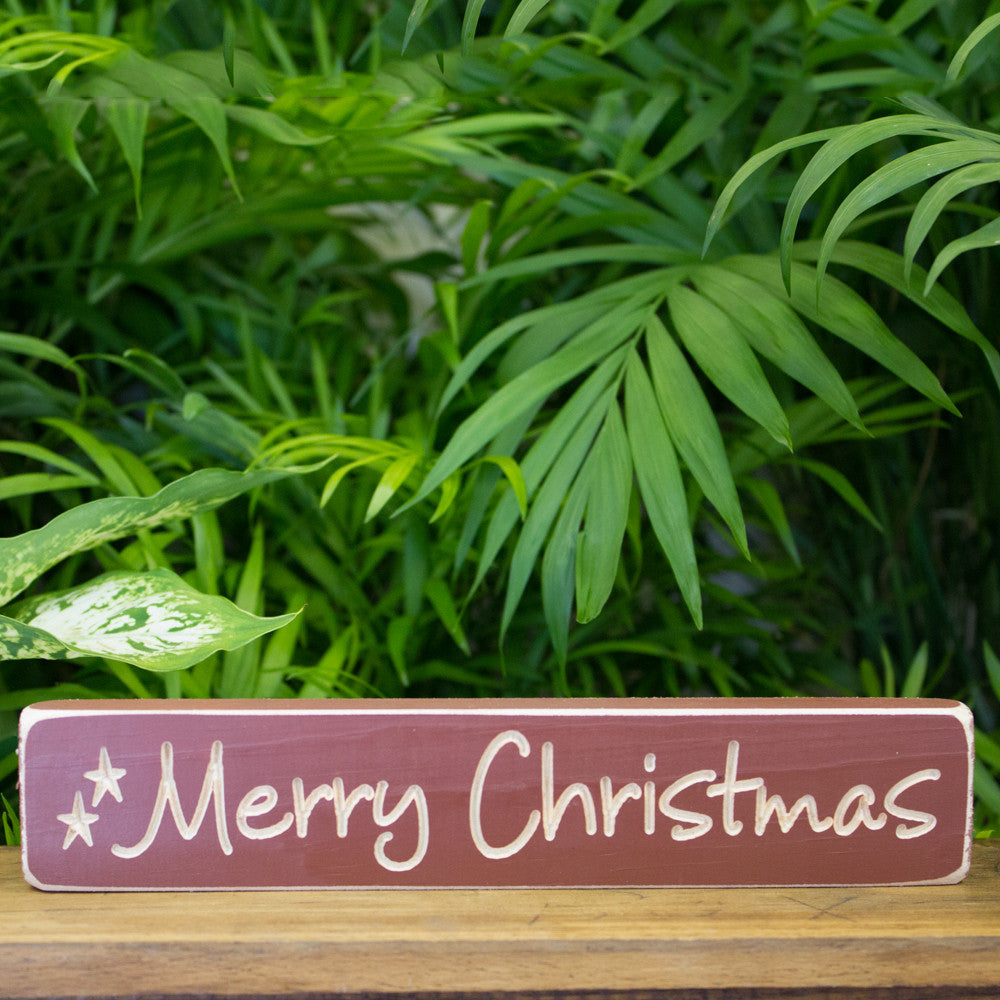 """Merry Christmas"" Engraved Sign"
