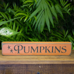 """Pumpkins"" Engraved Sign"