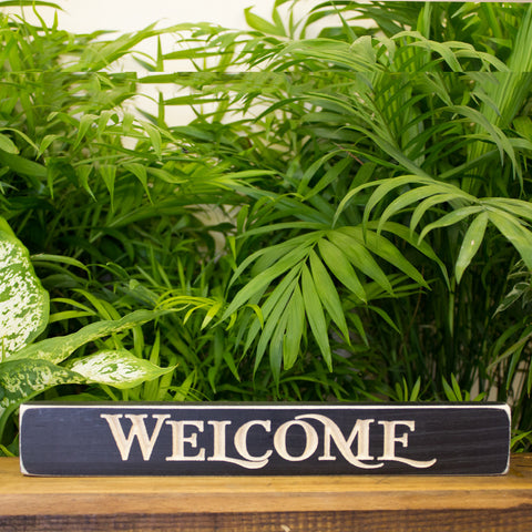 """Welcome"" Engraved Sign"