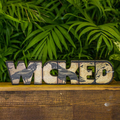 """Wicked"" Halloween Sign with Crows"