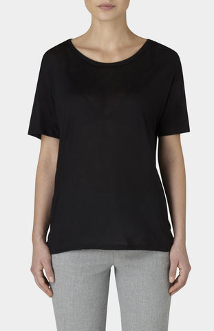 BASERANGE Black Bamboo Loose Tee - Pho. London