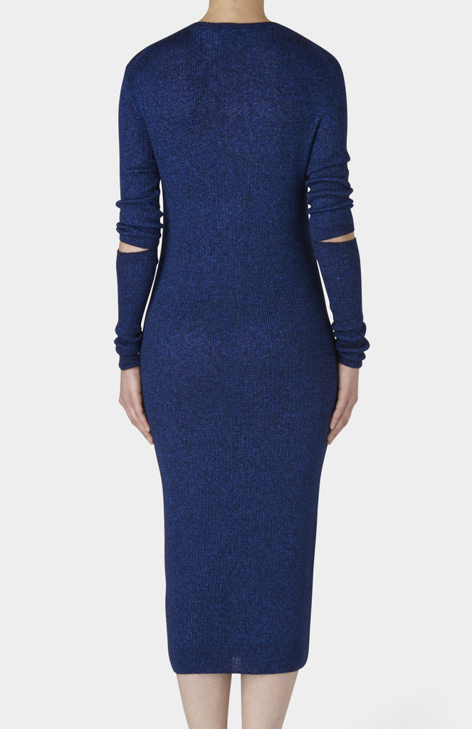 BLAKE LDN Blue Wool Pepe Dress - Pho. London
