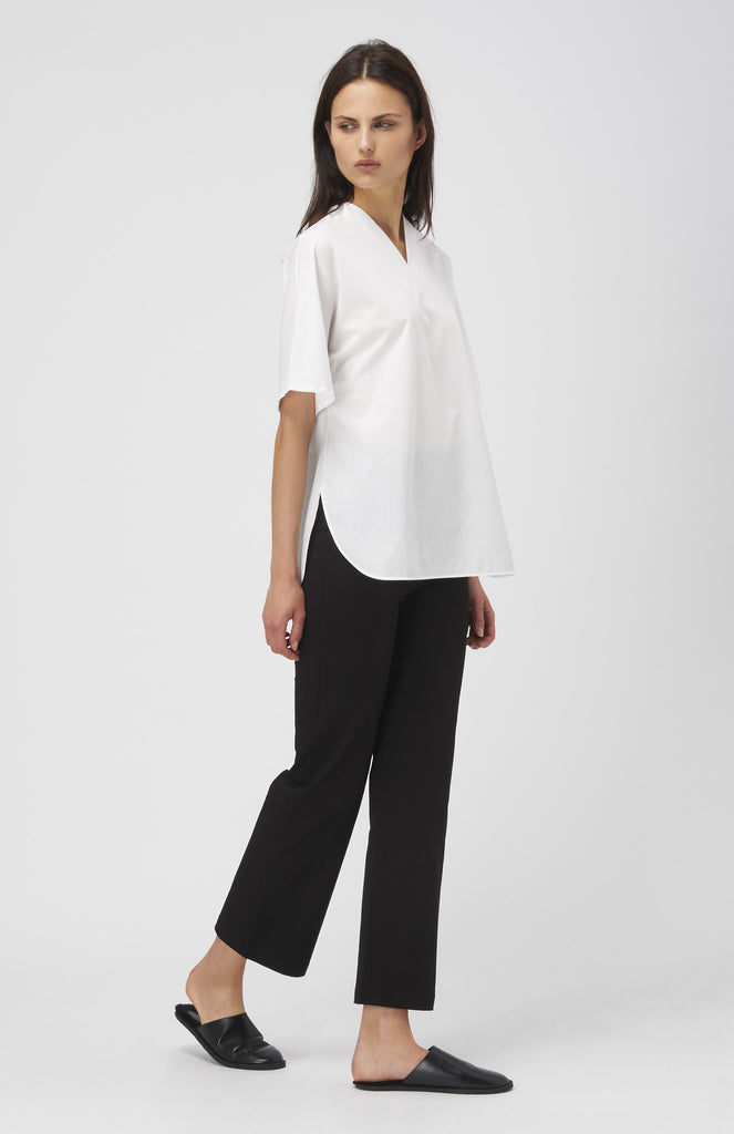 IN-GRID White V Neck Kimono Shirt - Pho. London