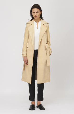 NANUSHKA Faux Suede Taka Trench Coat - Pho. London