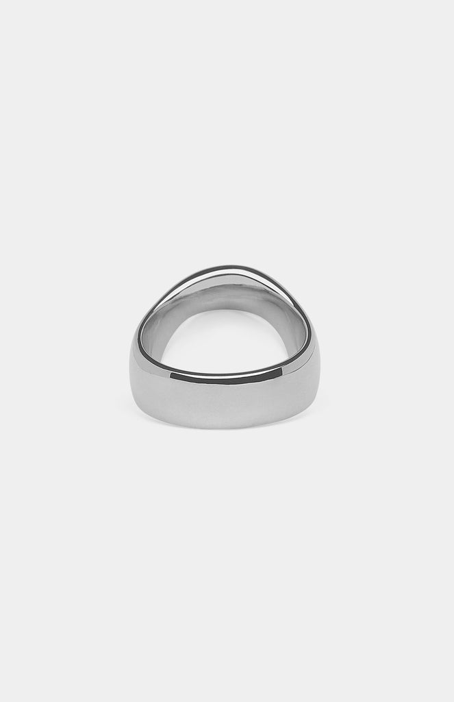 TOM WOOD The Oval White Agate Ring - Pho. London