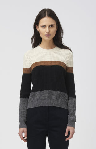 WOOD WOOD Stripe Wool Regina Sweater - Pho. London