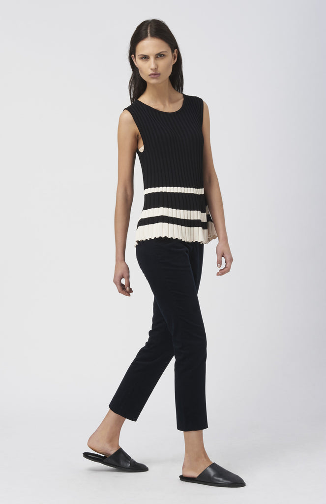 BLAKE LDN Black / Cream Naomi Top - Pho. London