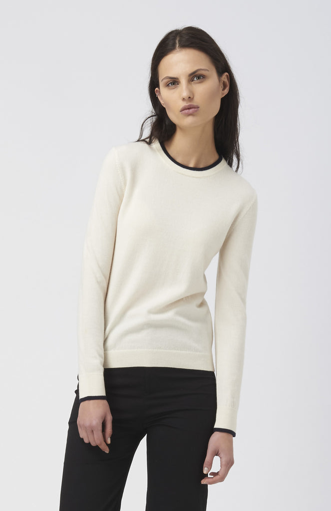 WOOD WOOD Cream Merino Wool Renee Sweater - Pho. London