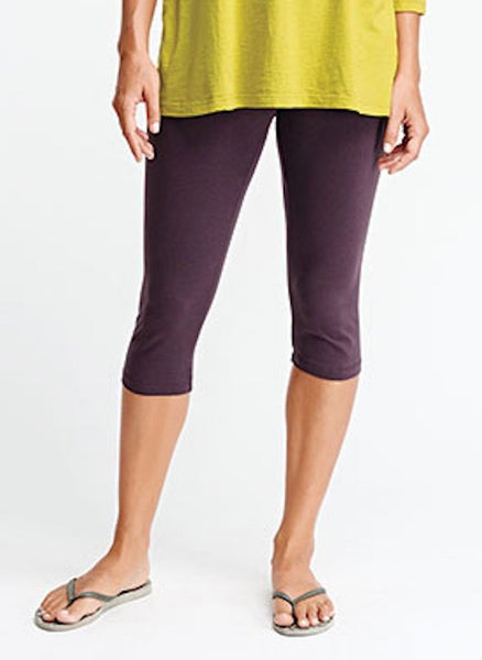 Capri Legging (shown in Blackberry) - Cotton Knit Legging, capri length, by FLAX