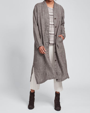 Chosen Duster (in Cocoa Panama) + Throw It On (in Mosaic) + Pocketed Ankle Pant (in Alabaster)