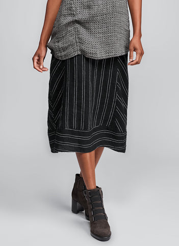Multi-Facet Skirt (Onyx Suiting) + Multi-Facet Tunic (Onyx Diamond)