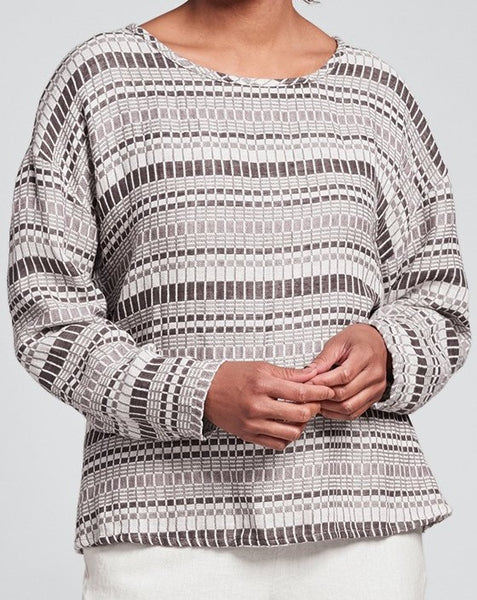 Throw It On - textured linen pullover (FINAL SALE)(FLAX Select)