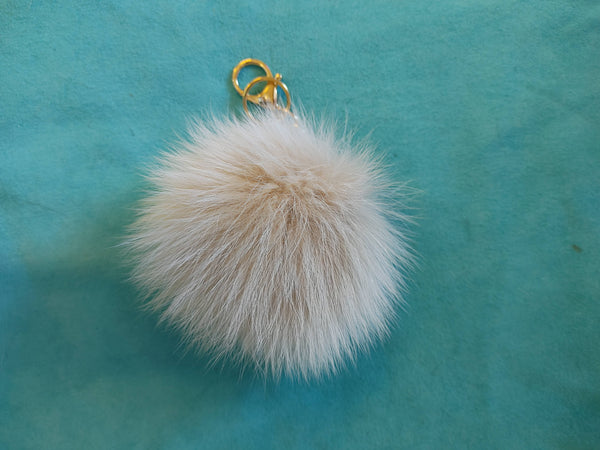 Keychain with blush fox