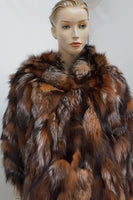 NATURAL BROWN  FOX LUXURIOUS JACKET