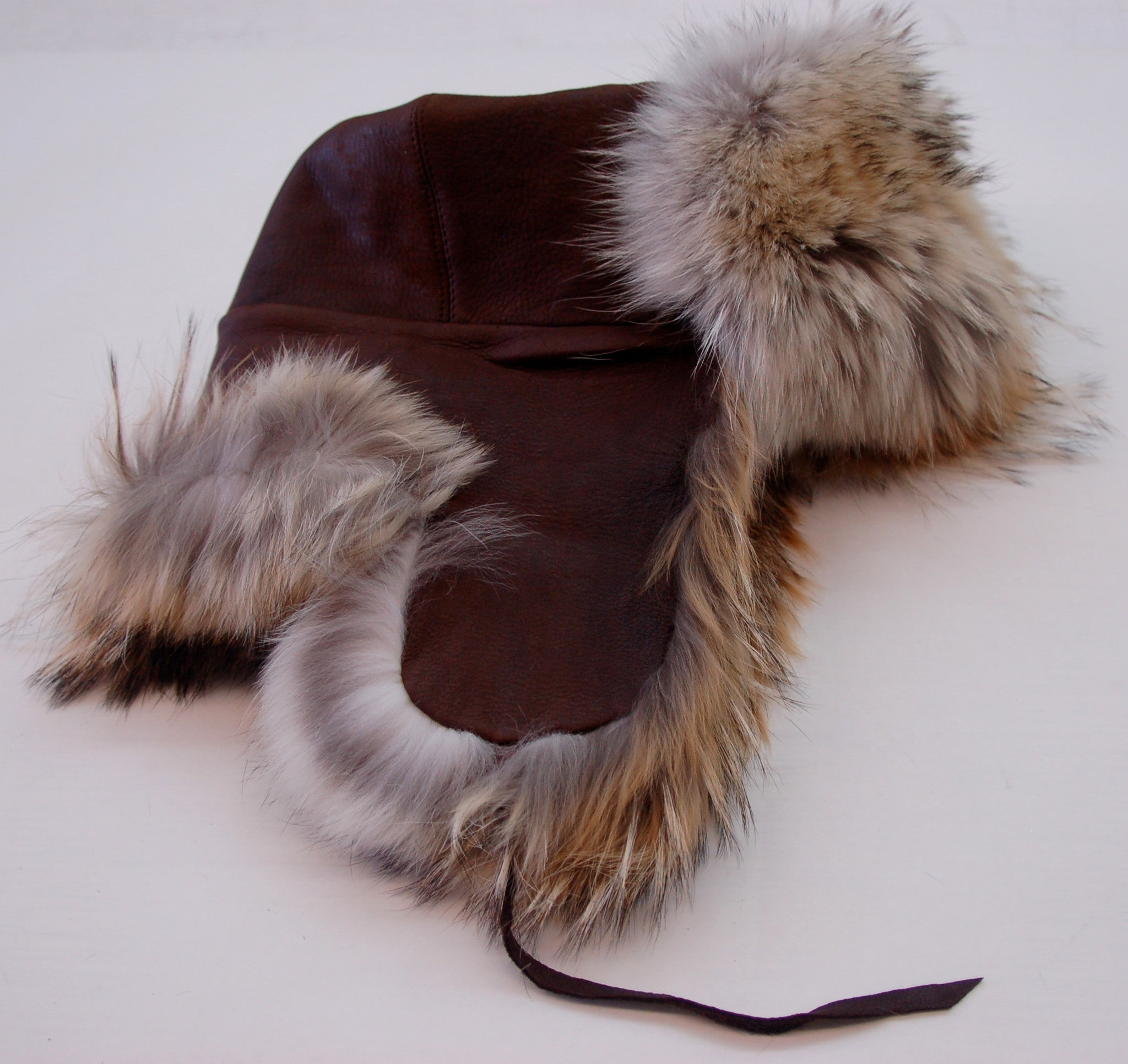 Russian Coyote & Deerskin Hat