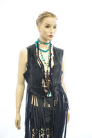 DEER LEATHER FRINGE VEST