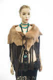 TUSCAN LAMB FRINGE MINI CAPE
