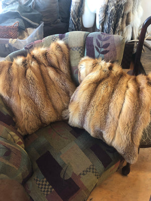 Fur pillows and blanket made from your beloved old fur and leather coats