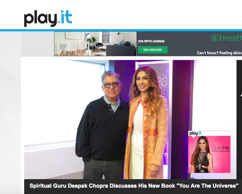 Deepak Chopra Joins Dr Tabasum Mir on Glammir CBS Radio