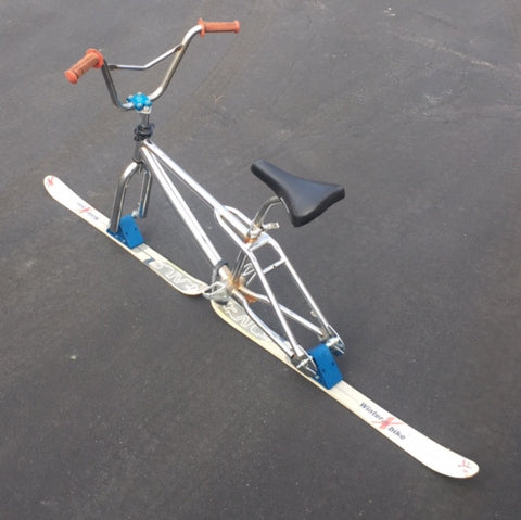 Used Chrome BMX Skibike with 95cm X-Rail twin tip skis