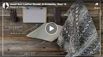 Jewel Box Leather Reveal & Giveaway, Sept 16