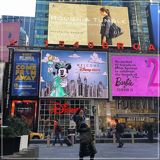 Rough & Tumble Featured on Times Square Billboard