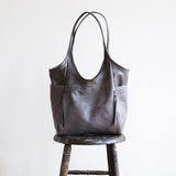 tote leather pocket magnet sling premium pockets zipper