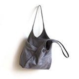 tote leather pocket magnet sling premium
