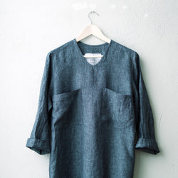 T shirt dress | indigo