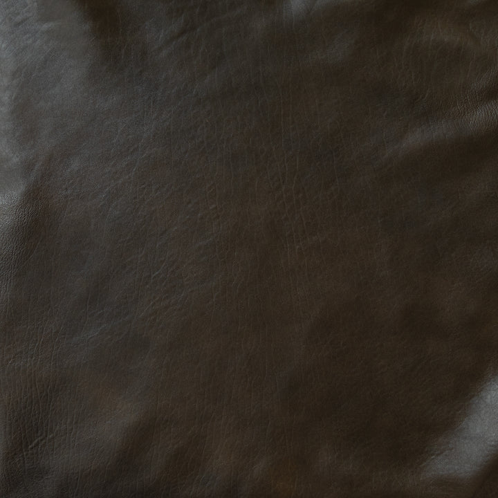 deep brown grained semi-matte washed lamb | swatch