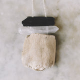 r.dabdab driftwood and tourmaline necklace