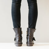 shoe boot bootie leather