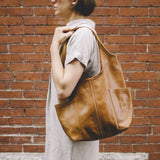 tote leather pocket magnet sling premium saddle tan designer