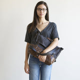 crossbody adjustable messenger unisex waxed canvas laptop brown