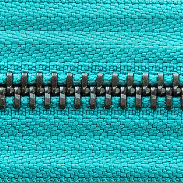 aqua | antique | zipper swatch