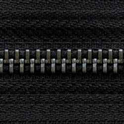 black | antique | zipper swatch