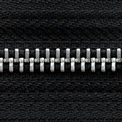 black | nickel | zipper swatch