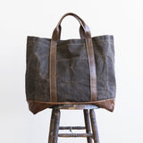 tote waxed canvas leather pocket carry all maine